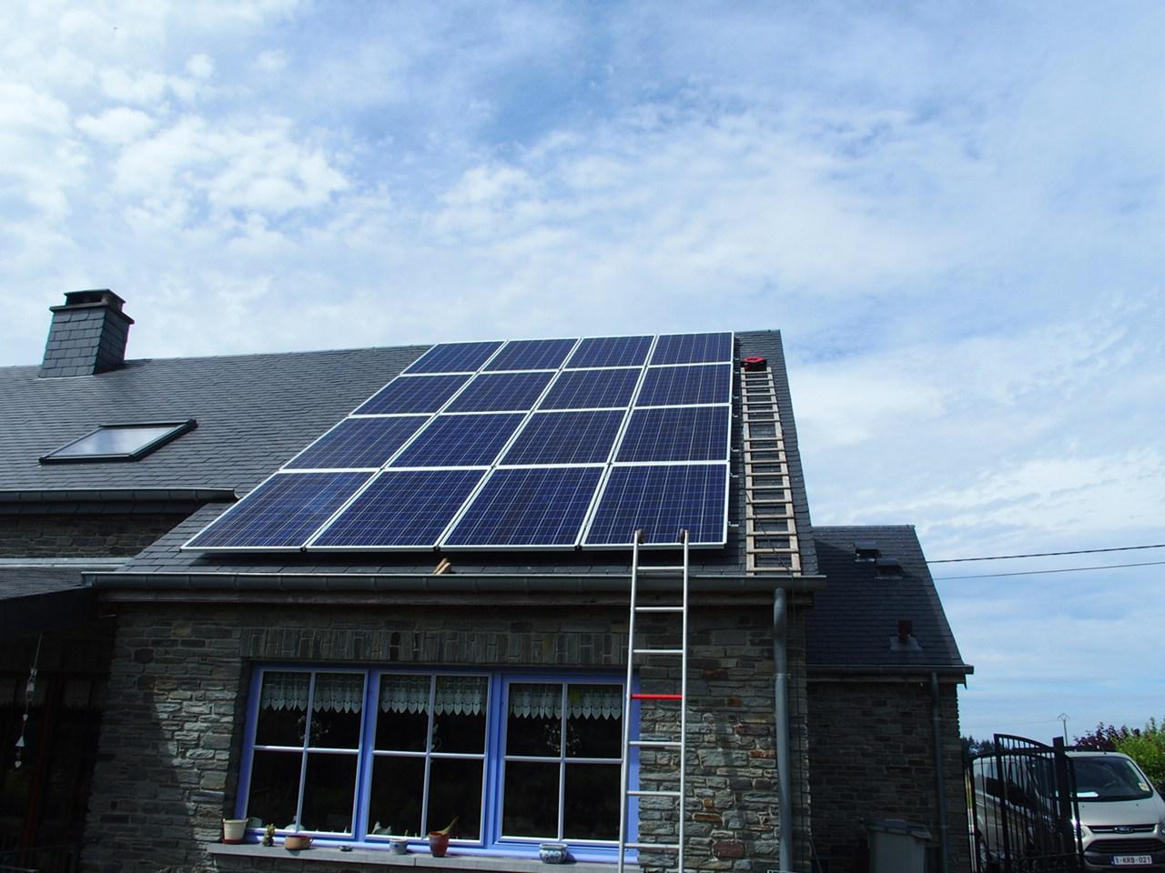 Nouvelle installation photovoltaïque à Paliseul...
